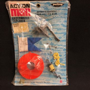 VINTAGE ACTION MAN - UNDERWATER EXPLORER FILM UNIT - DIVER BUOY - CARDED (Ref2)